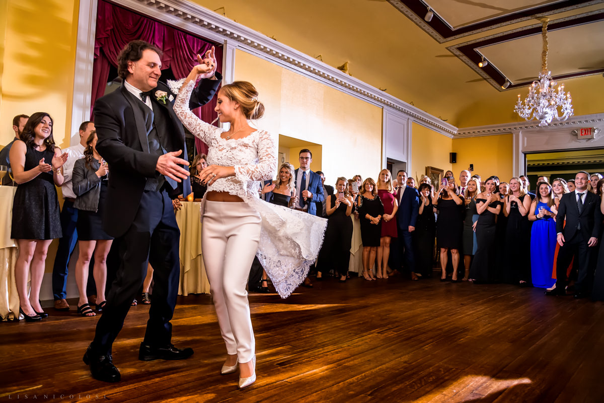 Wedding at Chateau at Coindre Hall - Long Island Wedding Photographers - Reception - Parent Dance