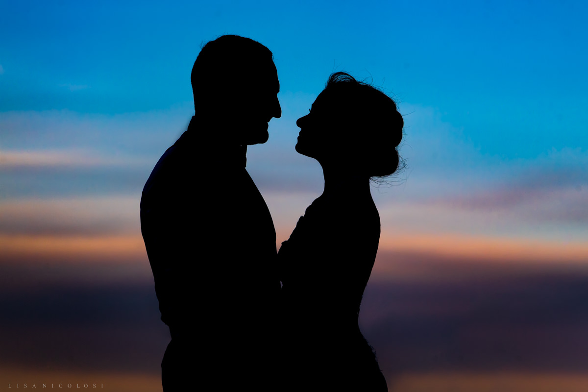 Wedding at Chateau at Coindre Hall - Long Island Wedding Photographers - Sunset -Romantic Bride and Groom portraits