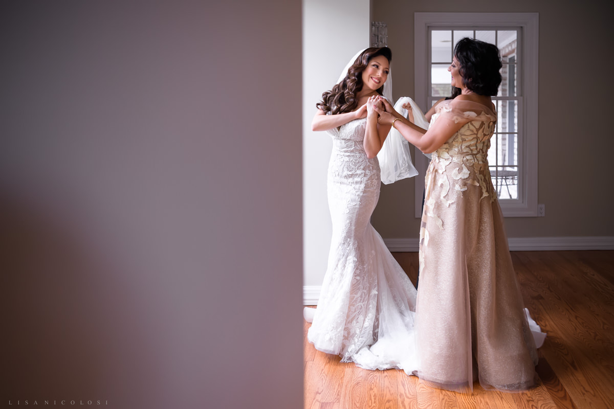 Wedding at Harbor Club at Prime -Bride getting ready - Best Long Island Wedding Photographers