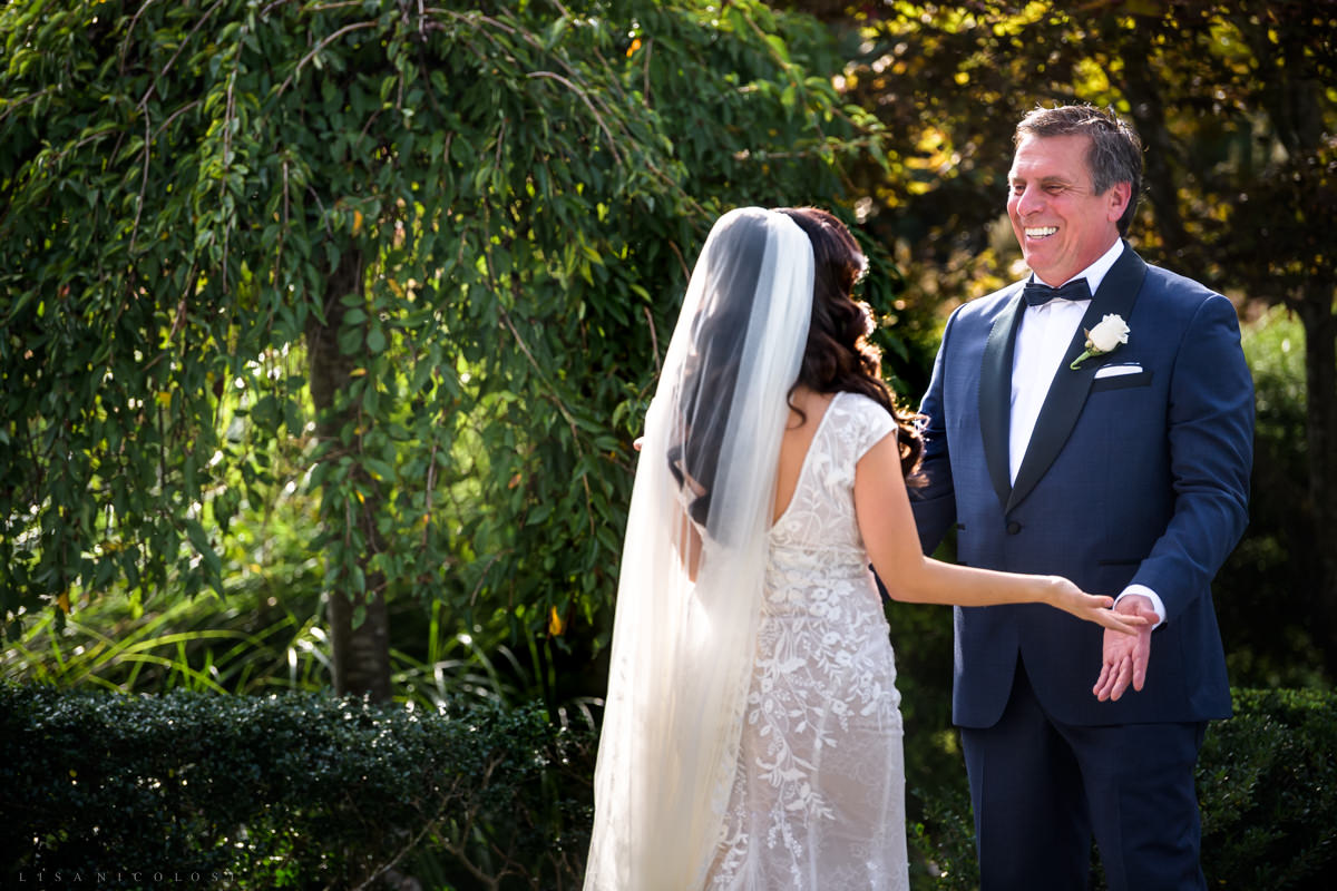 Wedding at Harbor Club at Prime -Bride and Groom first look - Long Island Wedding Photographer
