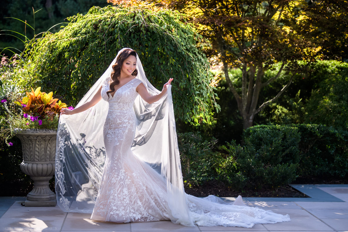 Wedding at Harbor Club at Prime -Bride portrait in wedding gown - Long Island Wedding Photographer
