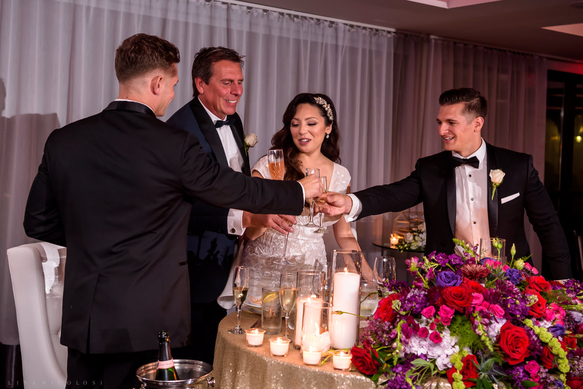 Wedding at Harbor Club at Prime - Toasts and speeches at wedding reception - Long Island Wedding Photographer