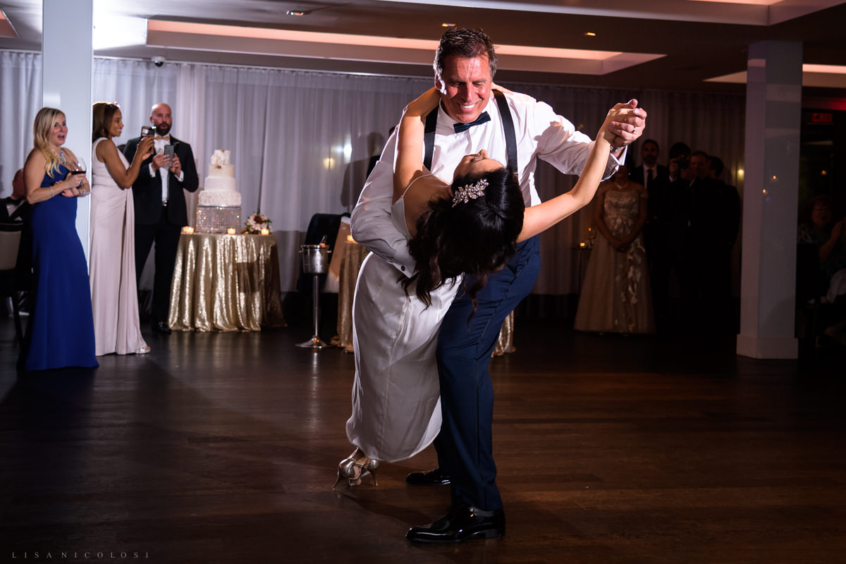 Wedding at Harbor Club at Prime - Bride and Groom dancing at wedding reception - Long Island Wedding Photographer