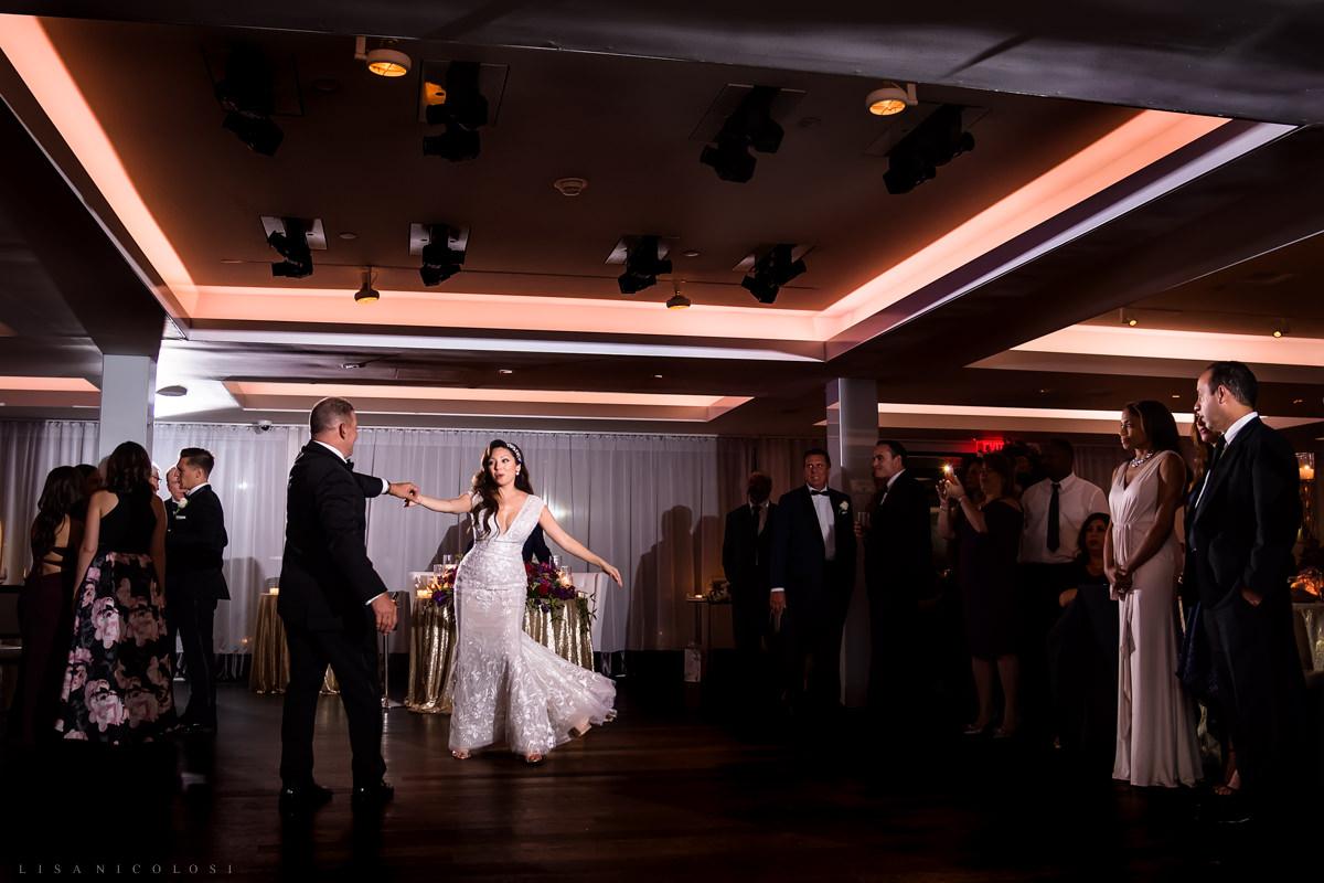 Wedding at Harbor Club at Prime - Parent dances at wedding reception - Long Island Wedding Photographer