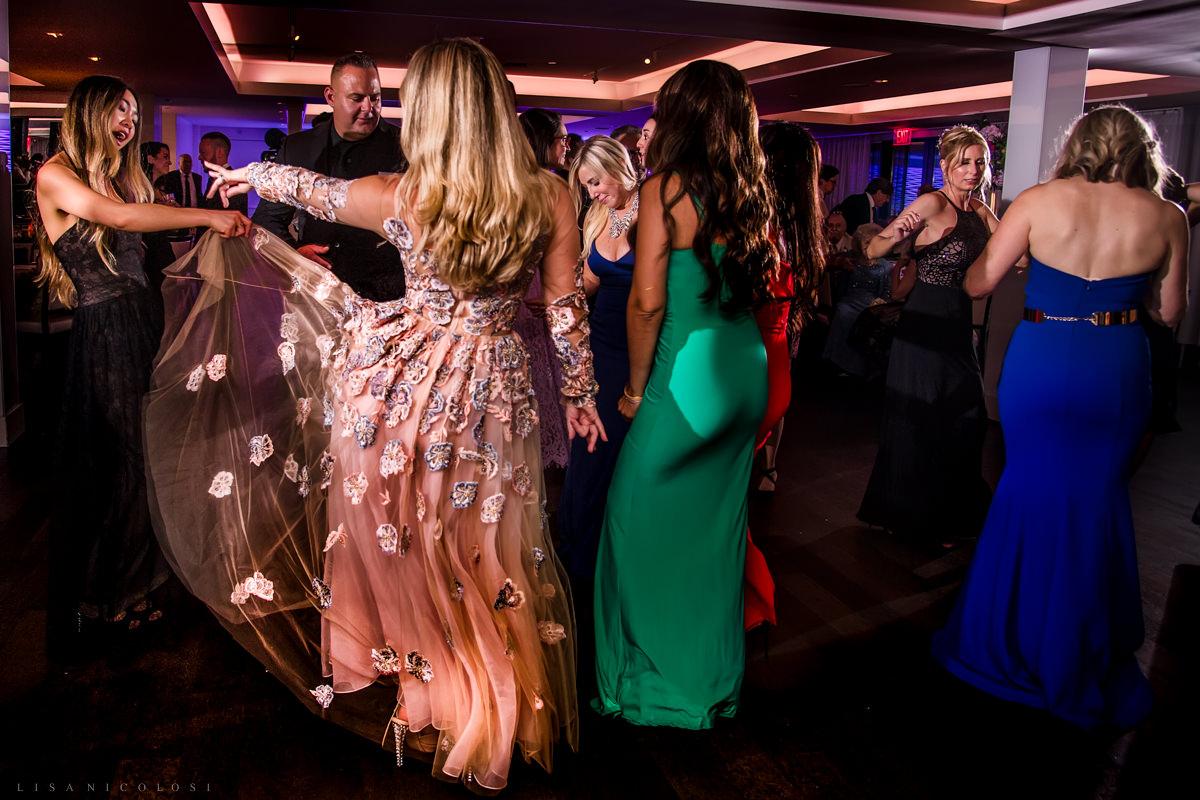 Wedding at Harbor Club at Prime -Guests dancing at wedding reception - Long Island Wedding Photographer
