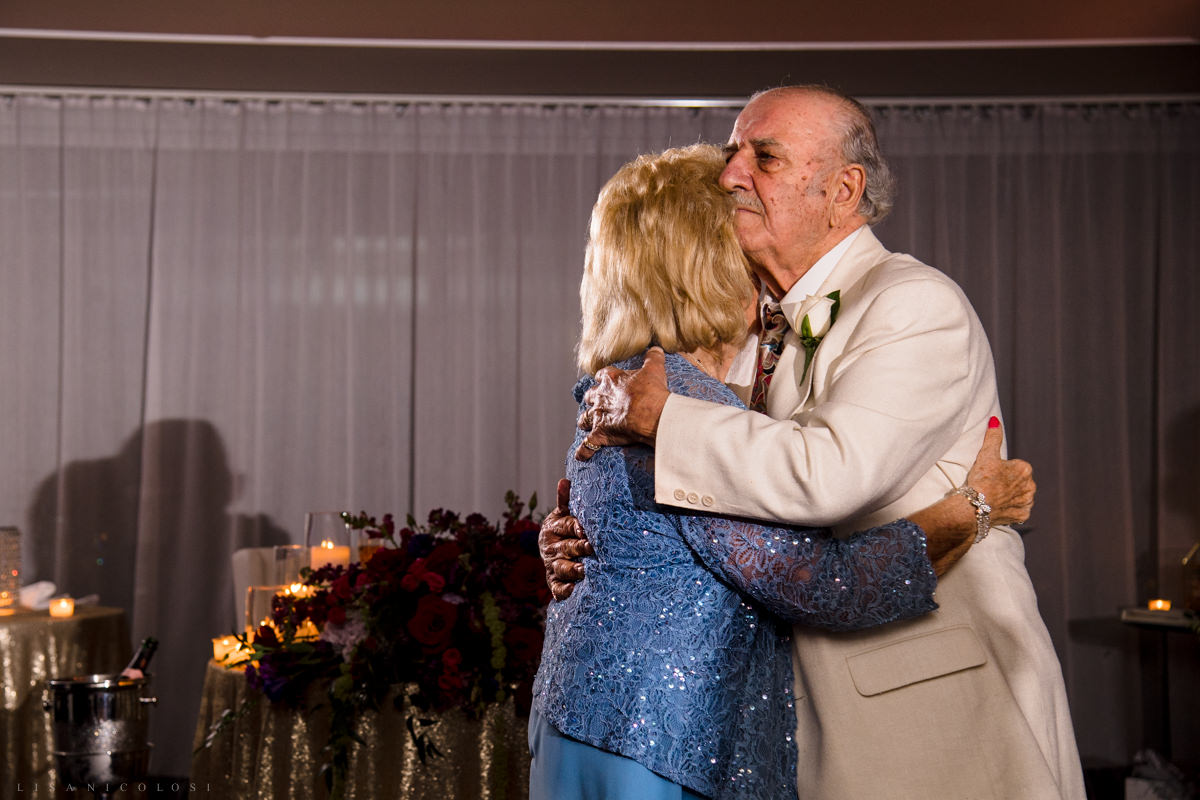Wedding at Harbor Club at Prime -Groom's parents dancing at wedding reception - Long Island Wedding Photographer