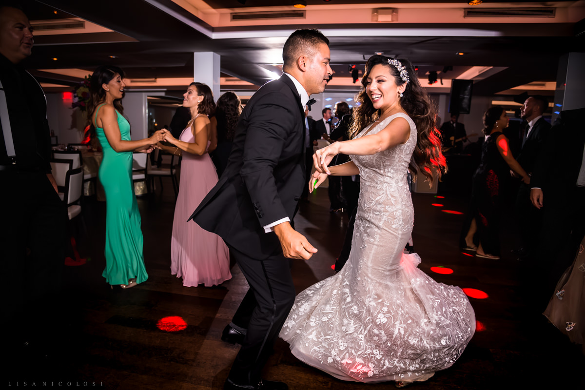 Wedding at Harbor Club at Prime - Bride dancing at wedding reception - Long Island Wedding Photographer