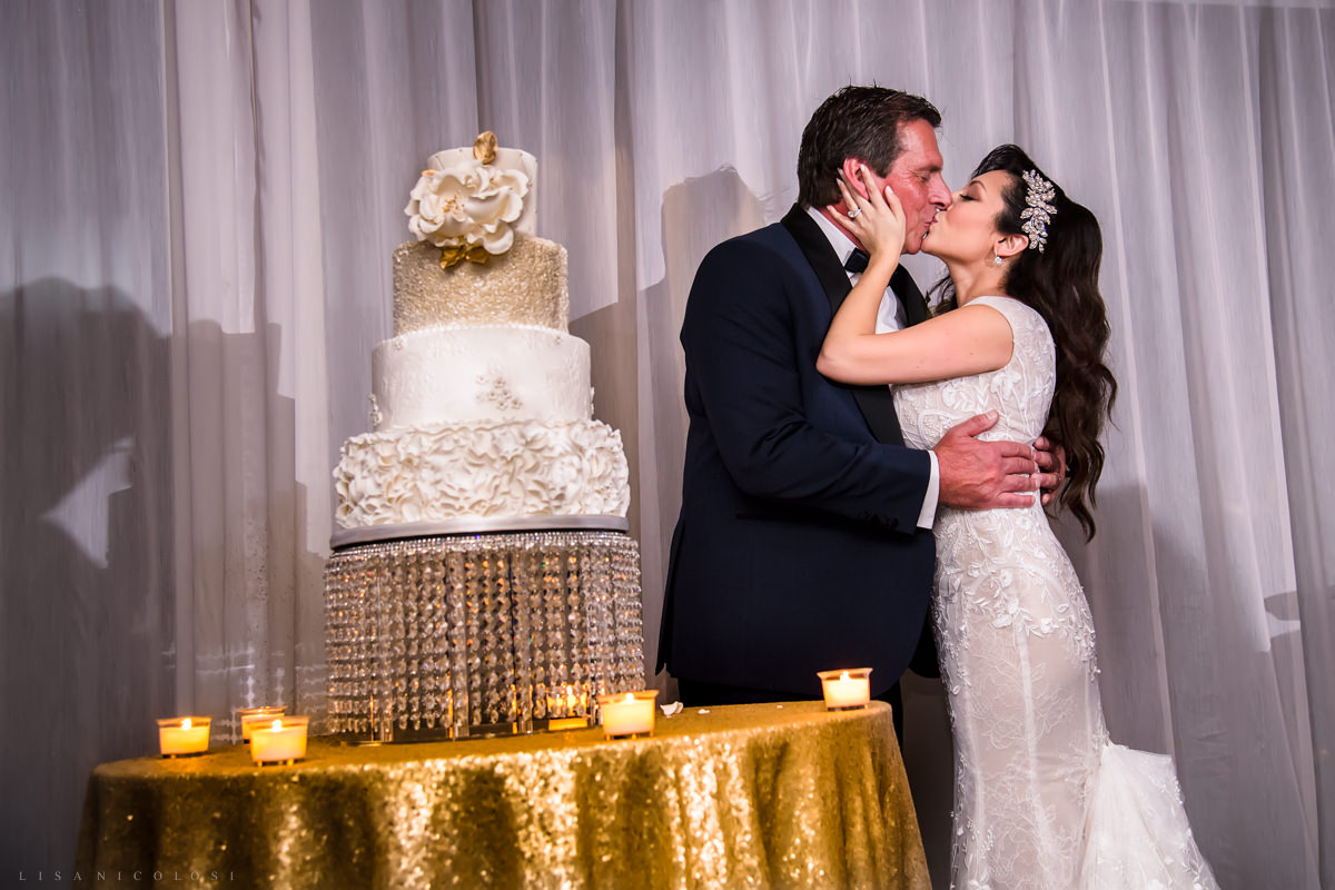 Wedding at Harbor Club at Prime - Wedding reception - cake cutting -Long Island Wedding Photographer