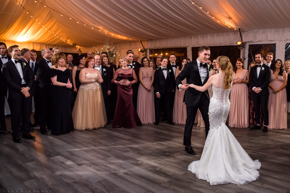 Bride and Groom first dance - Wedding Reception at at Gurney's Montauk - Montauk Wedding Photographer