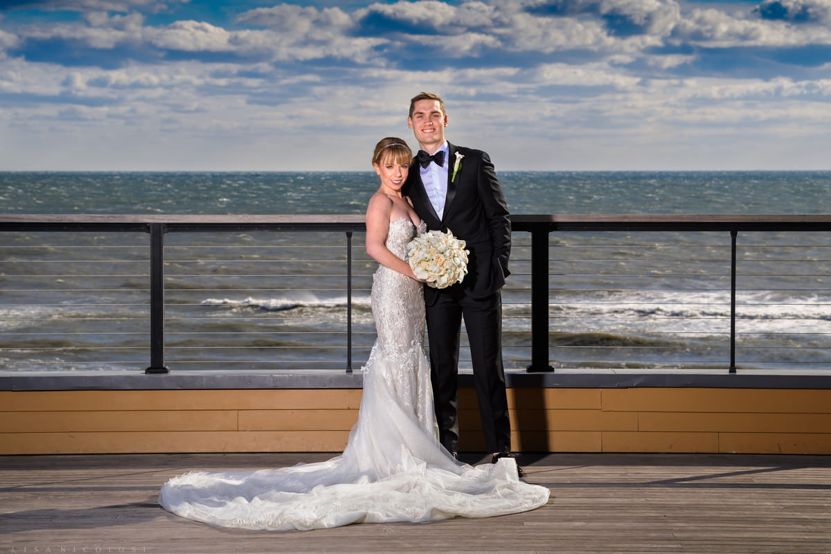Bride and Groom at Gurney's Montauk - Montauk Wedding Photographer