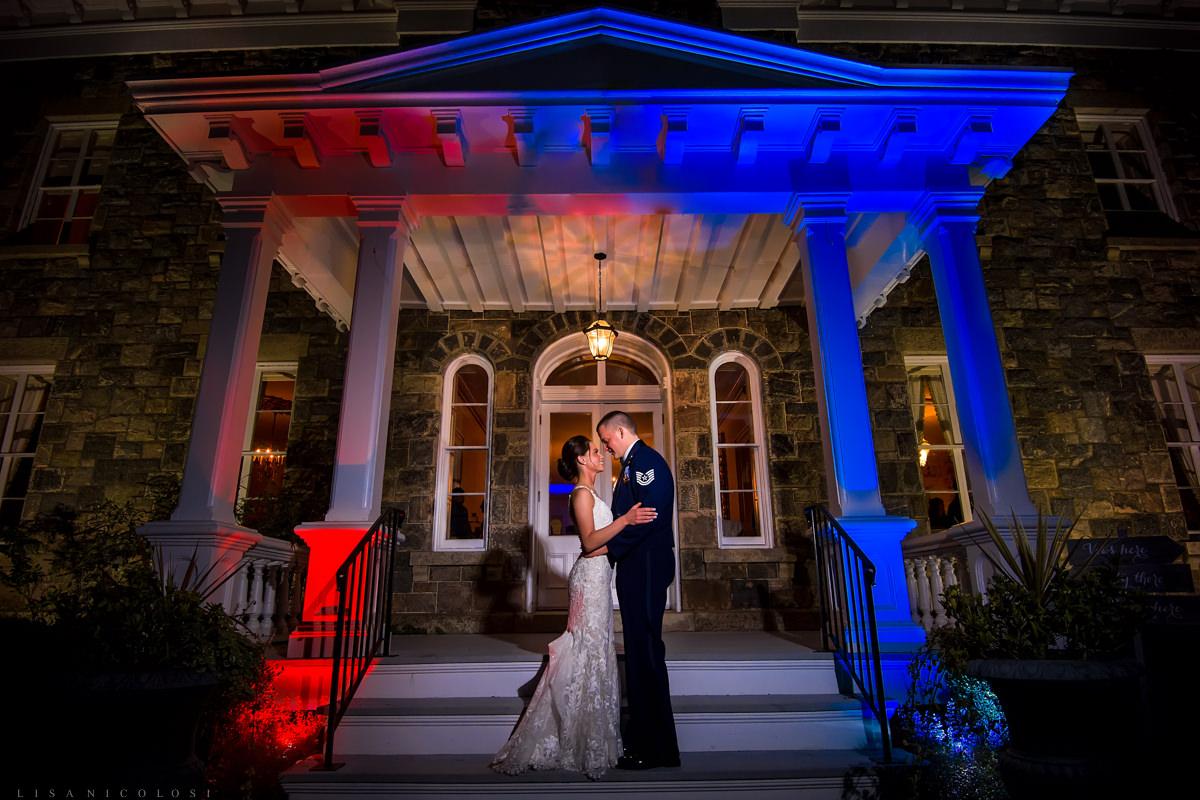 Greenport Wedding Photographer - Brecknock Hall wedding photo of bride and groom
