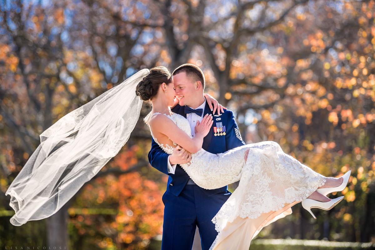 Greenport Wedding Photographer -Brecknock Hall Wedding Photographer - Bride and Groom Romantic Portrait - North Fork Wedding Photographers