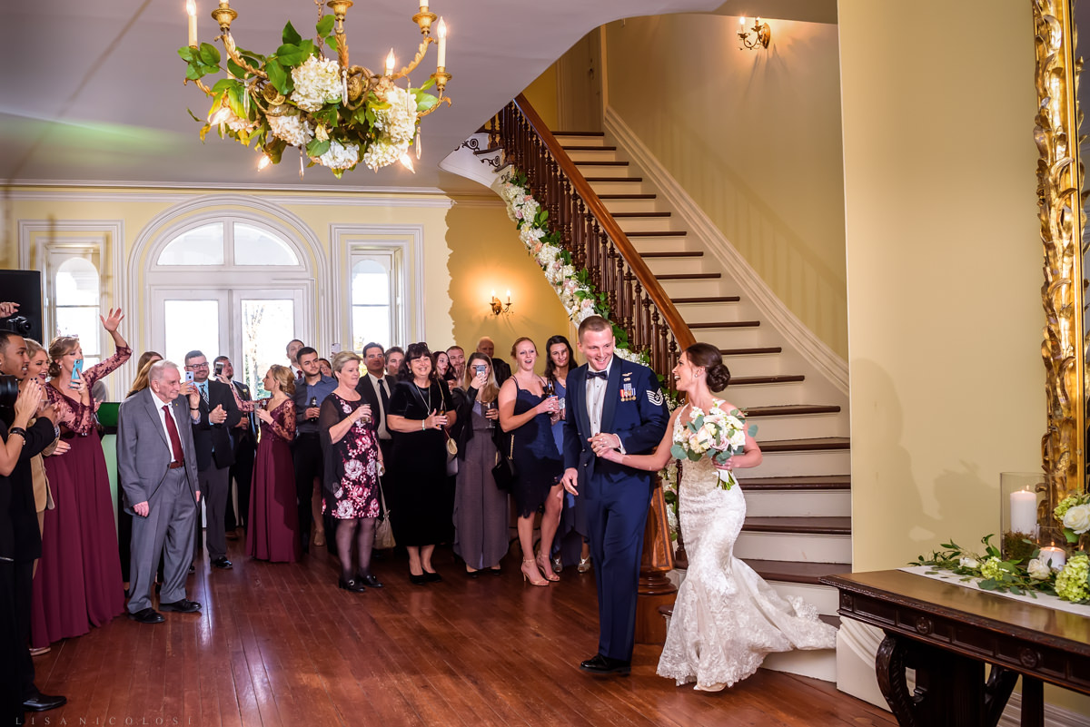 Military wedding at Brecknock Hall in Greenport