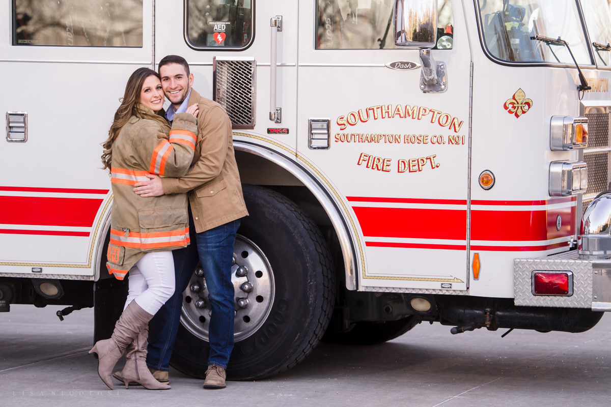 Fireman and Paramedic Engagement Photos