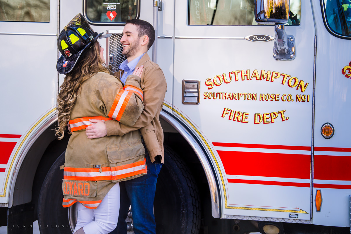 Southampton Engagement Session at Southampton Firehouse