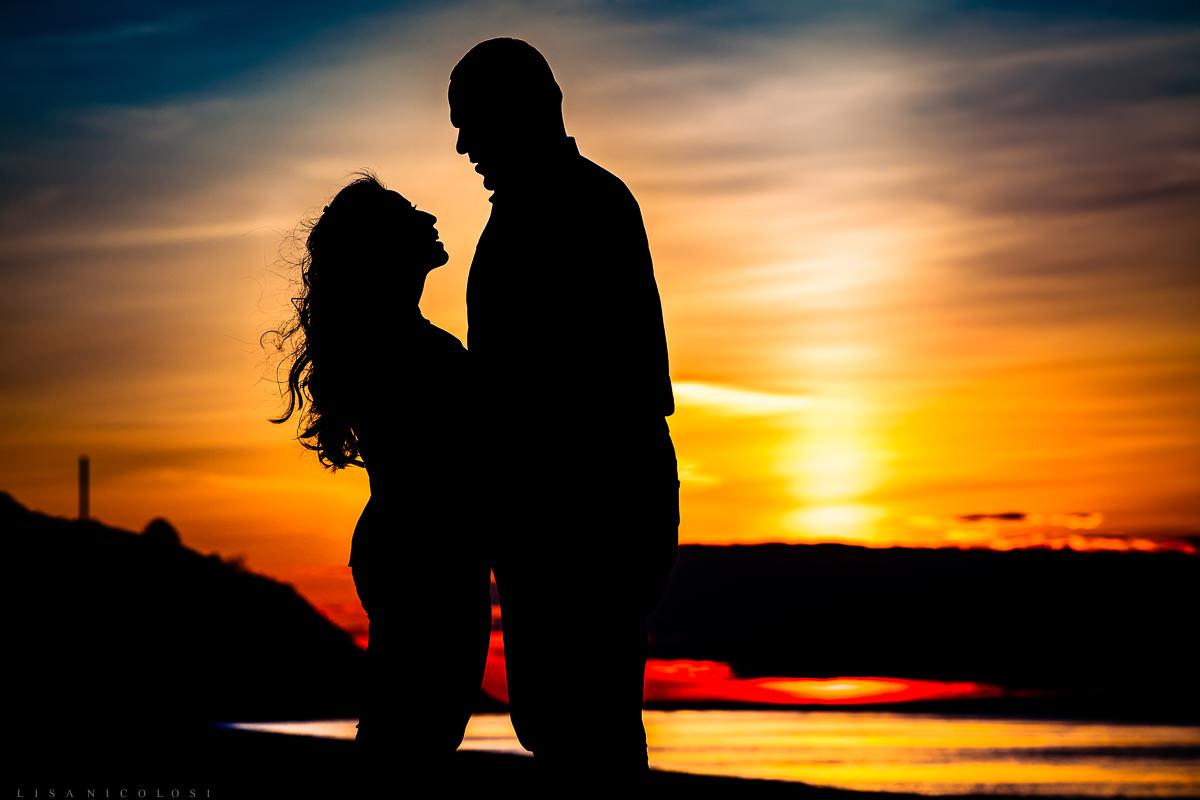 Long Island Proposal Photographer - Sunset Proposal at Port Jefferson Village Beach