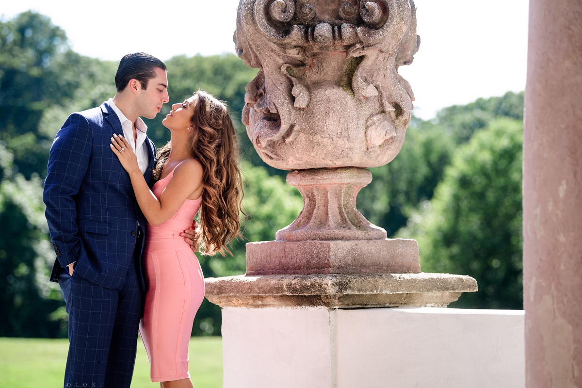 Long Island engagement Proposal Photos at The Vanderbilt Museum in Centerport