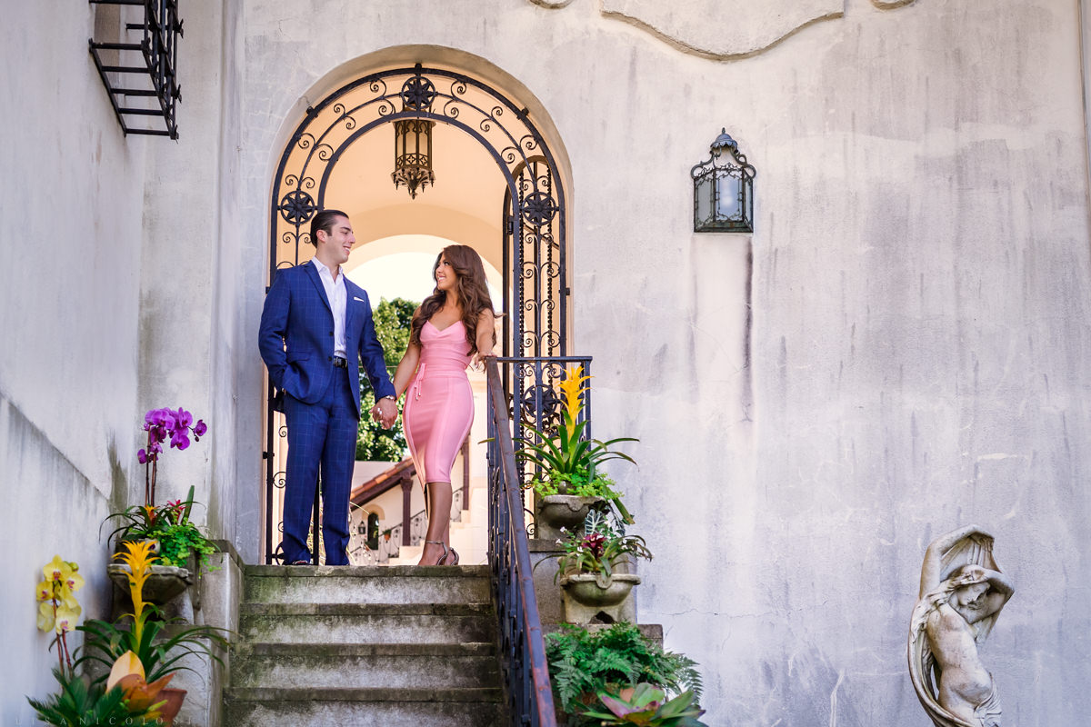 Long Island engagement Proposal Photographer. Romantic engagement Session at the Vanderbilt Museum in Centerport.