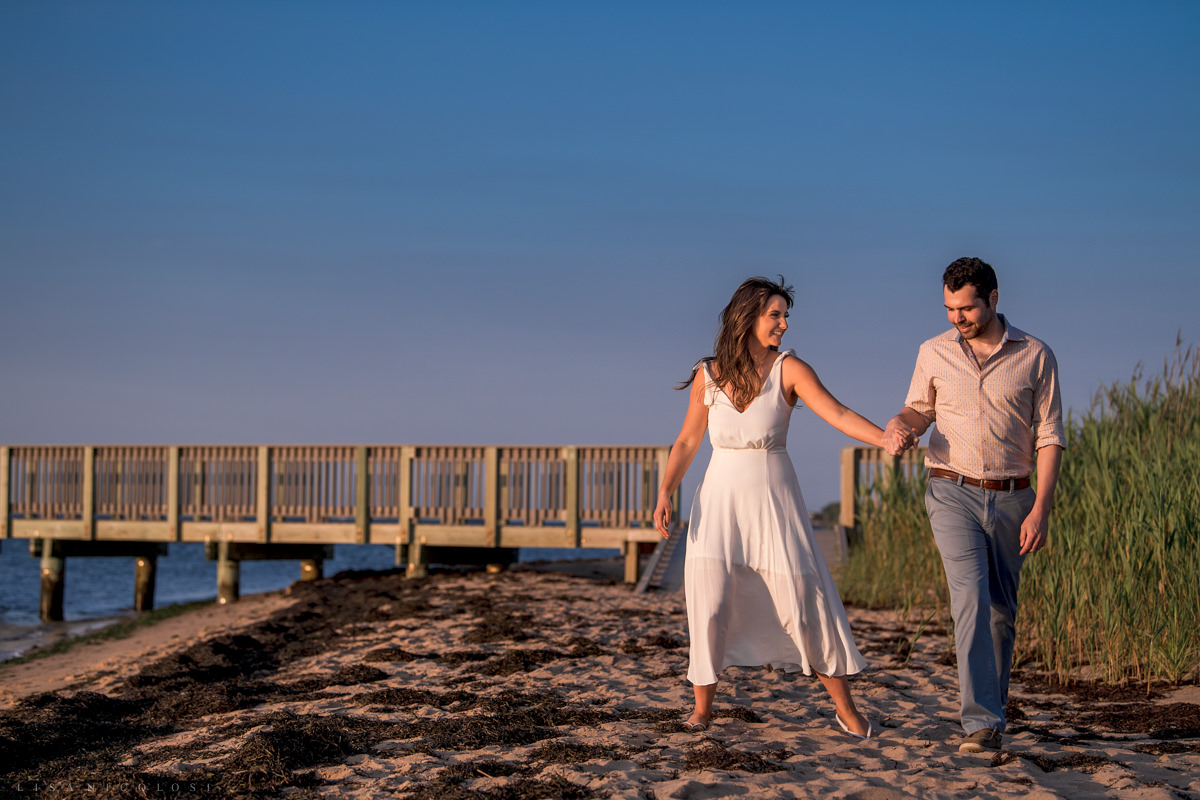 Fire Island Lighthouse Engagement Session - Engagement Beach Portraits - Robert Moses State Park