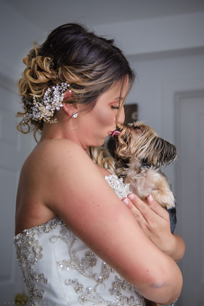 Staten Island Wedding Photographer - The bride and her dog