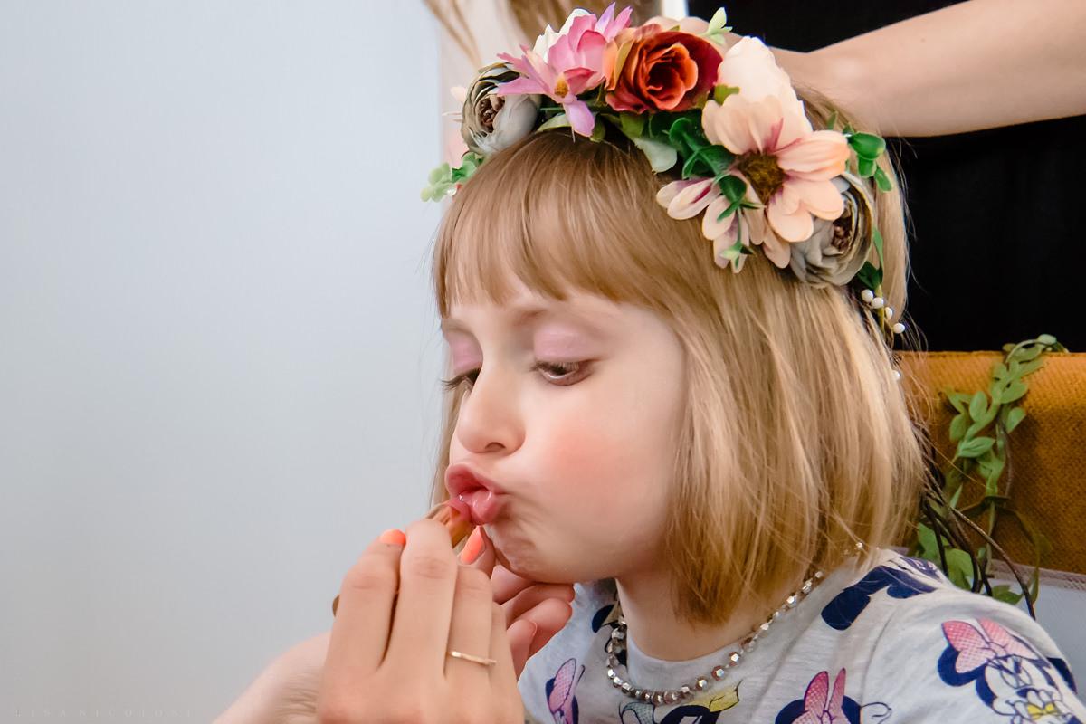 Staten Island Wedding Photographer - Flower girl getting ready