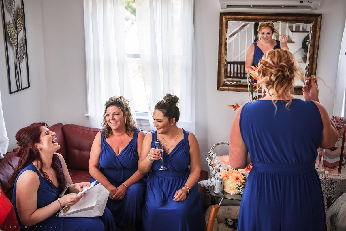 Staten Island Wedding Photographer - Bridesmaids laughing
