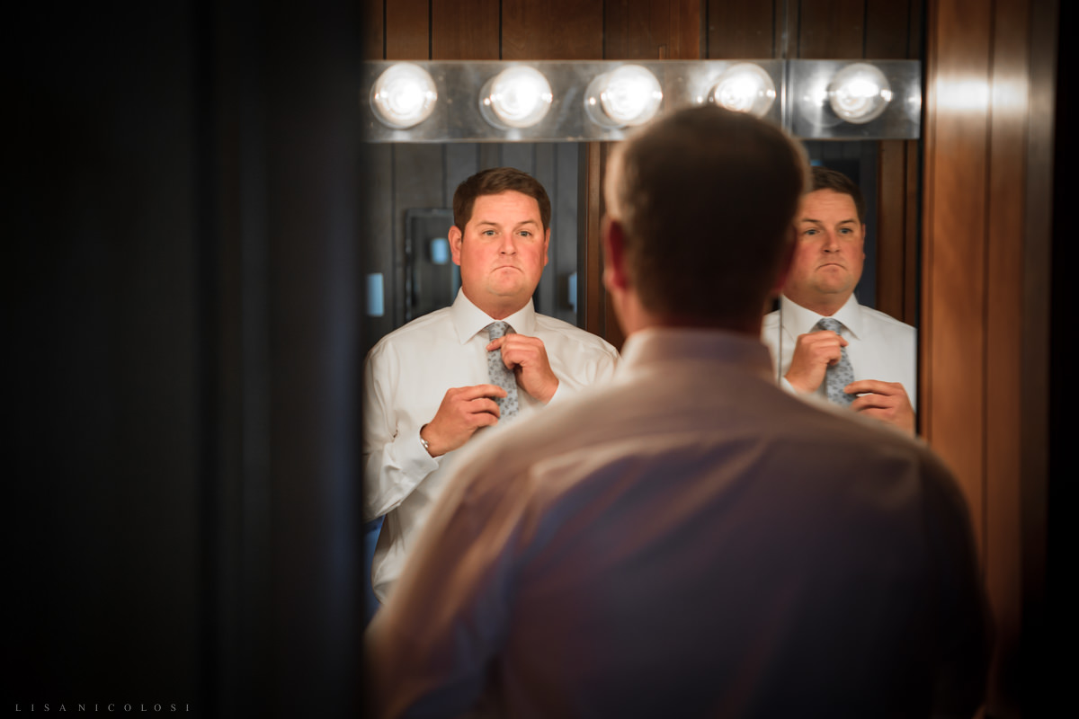 Shelter Island Wedding at The Pridwin - Groom getting Ready