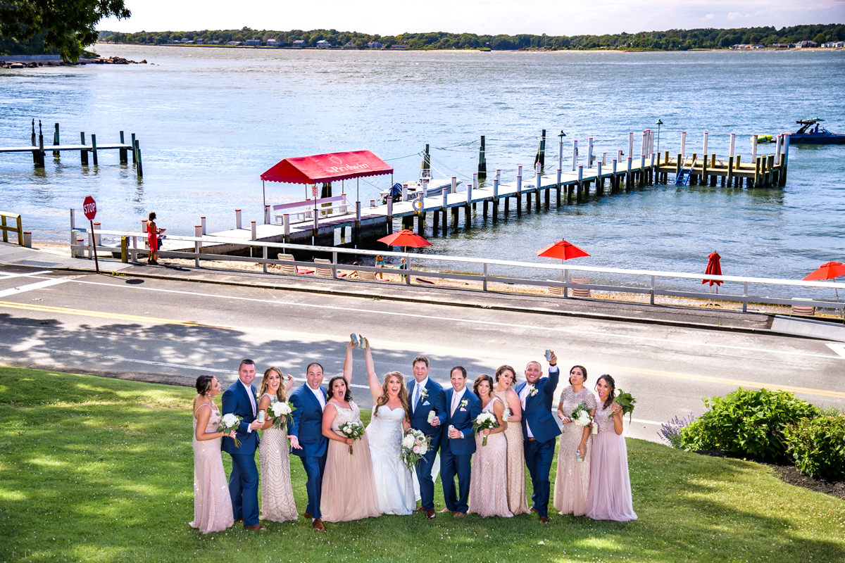 Shelter Island Wedding at The Pridwin Hotel - Bridal Party - Shelter Island Wedding Photographer