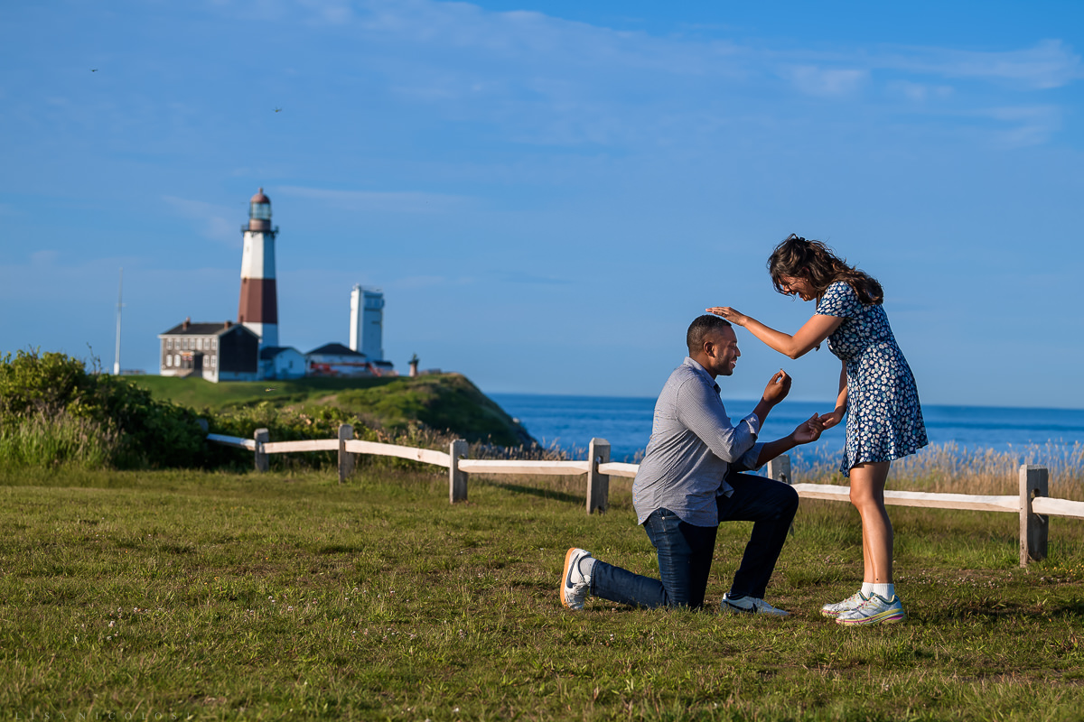 Montauk Engaged couple