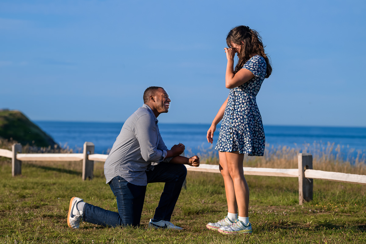 Tearful bride accepts wedding proposal in Montauk