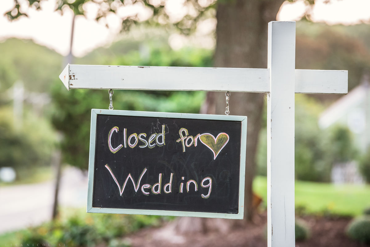 Sign at Pellegrini Vineyards - Close for a Wedding