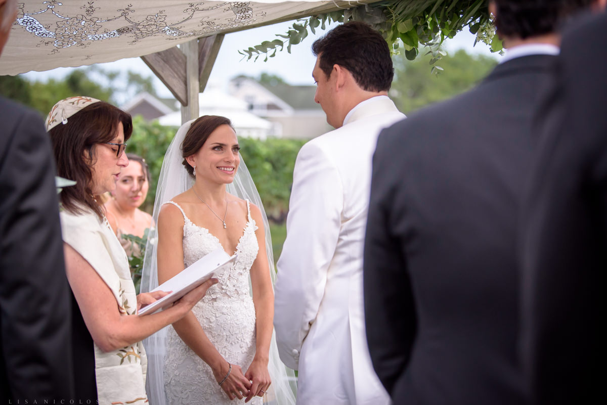 Wedding ceremony at Pellegrini Vineyards in Cutchogue