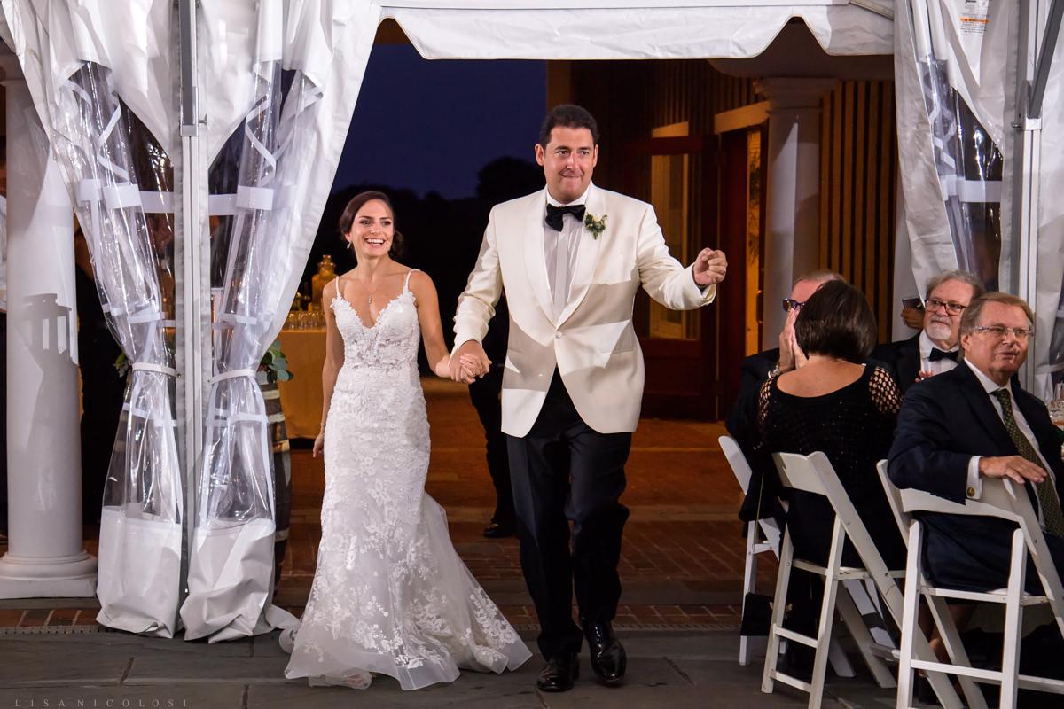 Wedding reception at Pellegrini Vineyards in Cutchogue NY - Bride and groom entrance