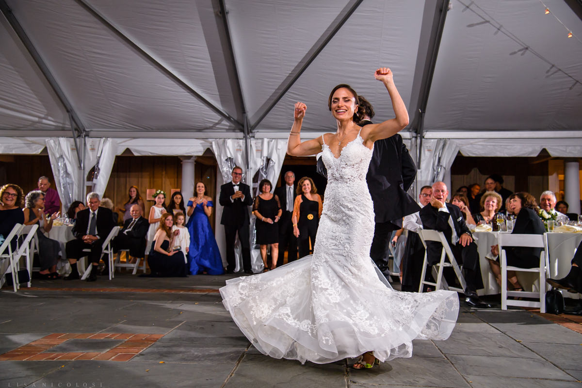 Wedding reception at Pellegrini Vineyards in Cutchogue NY- The father - daughter dance