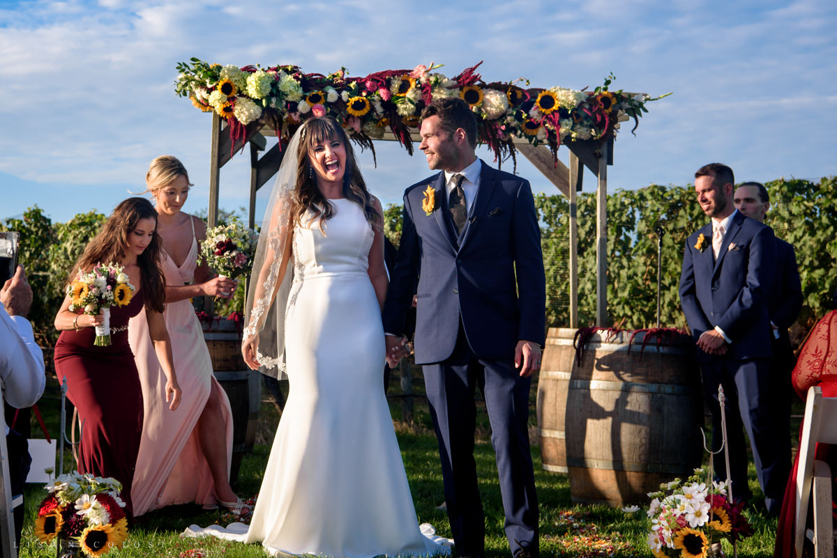 Wedding Ceremony at Pellegrini Vineyards