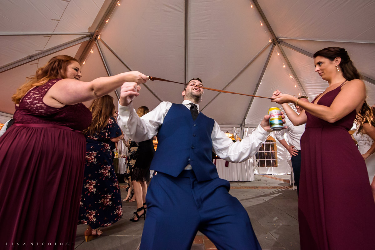 wedding guests dancing at Pellegrini Vineyards