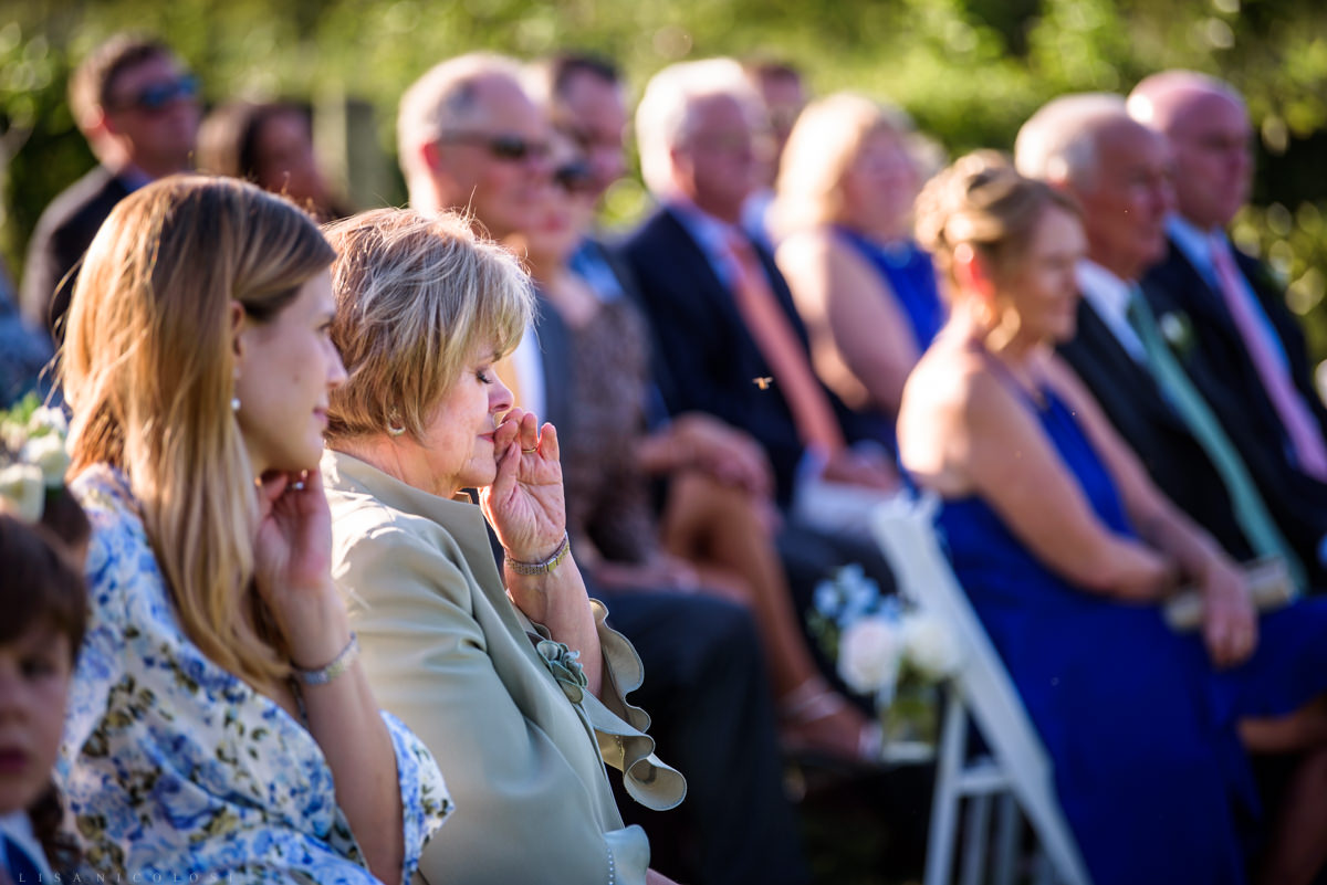 Jamesport Manor Inn Wedding Ceremony - wedding guests