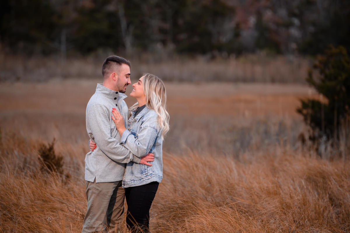 Romantic engagement portraits in Hampton Bays - Surprise Proposal