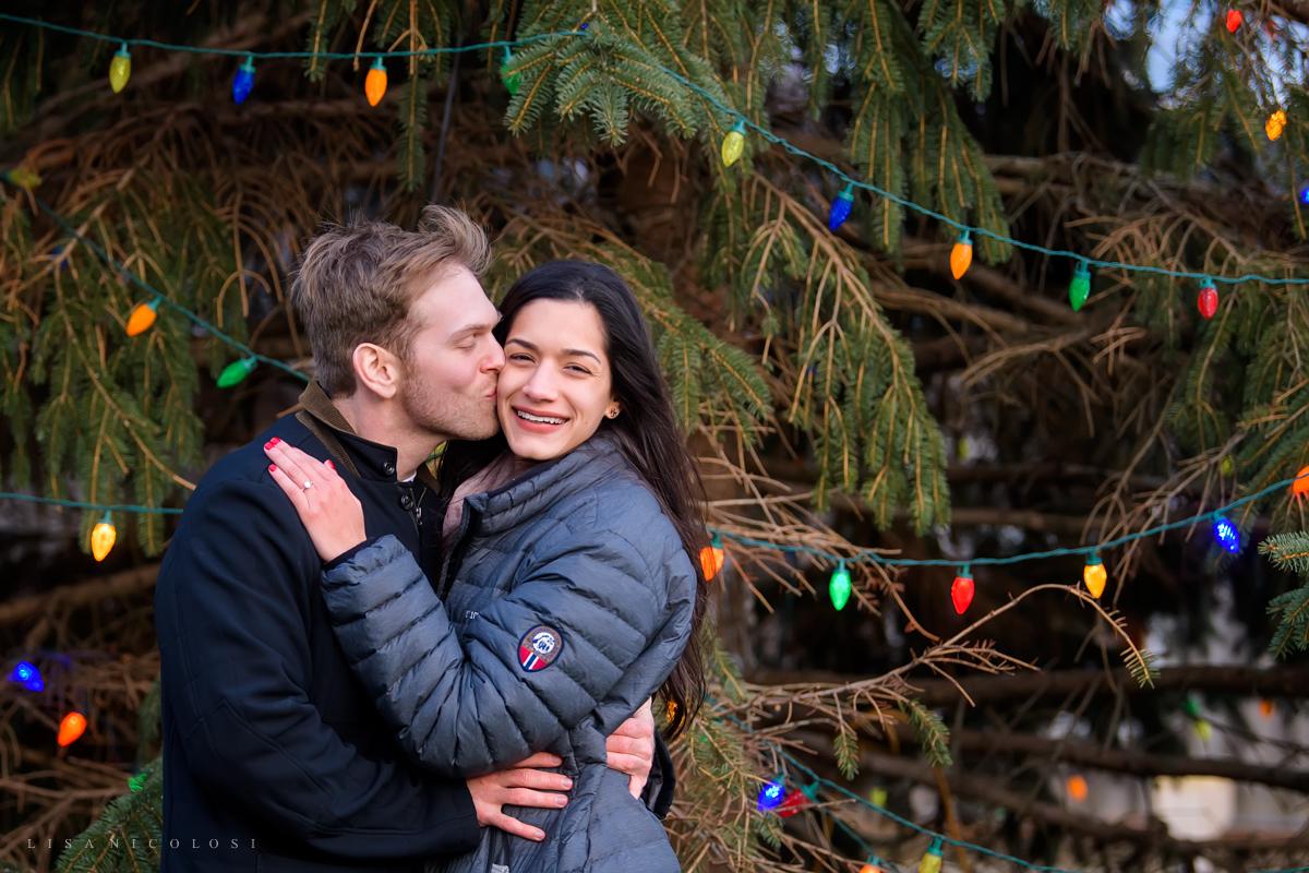 December engagement session