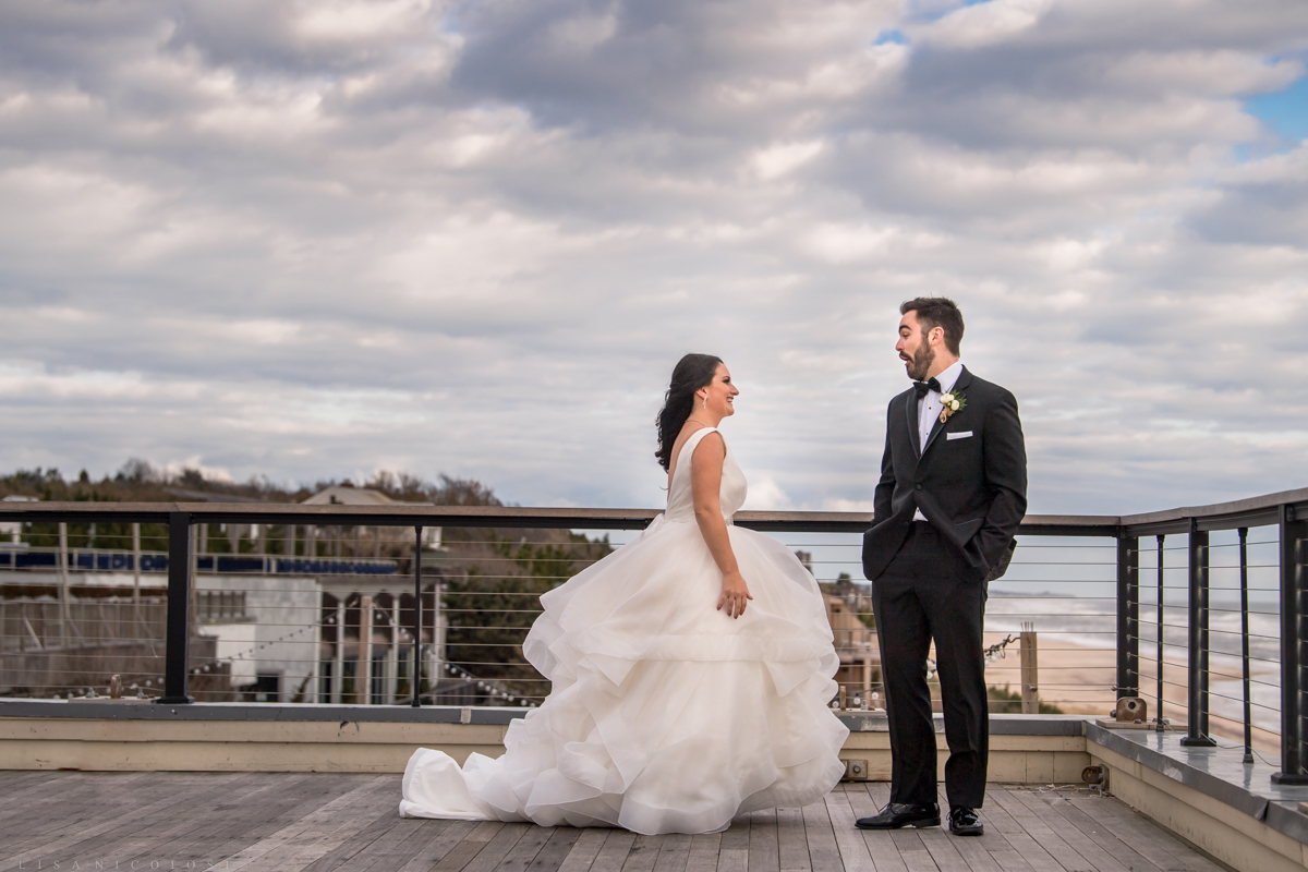 Gurney's Resort Wedding | Montauk Wedding Photographer - Bride and Groom first look