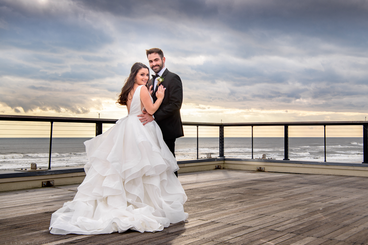 Gurney's Resort Wedding | Montauk Wedding Photographer - Bride and Groom romantic portraits
