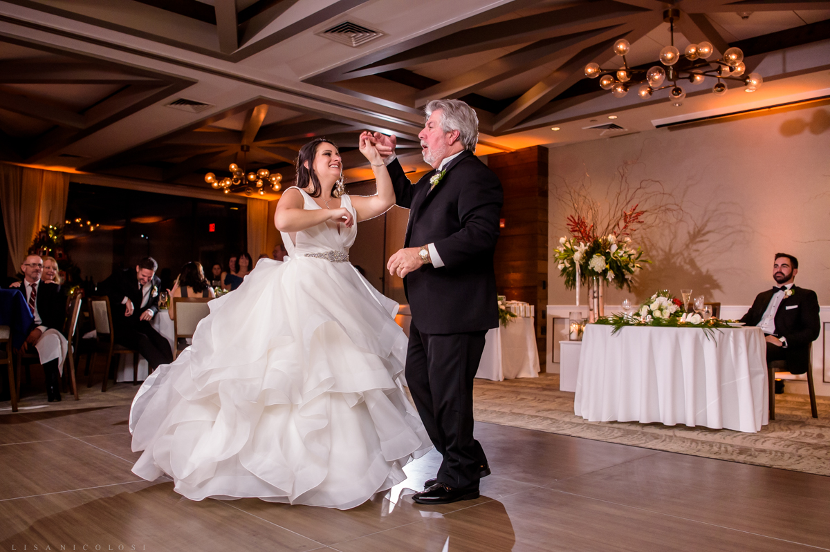 Gurney's Resort Wedding Photographer - Bride and Father dance