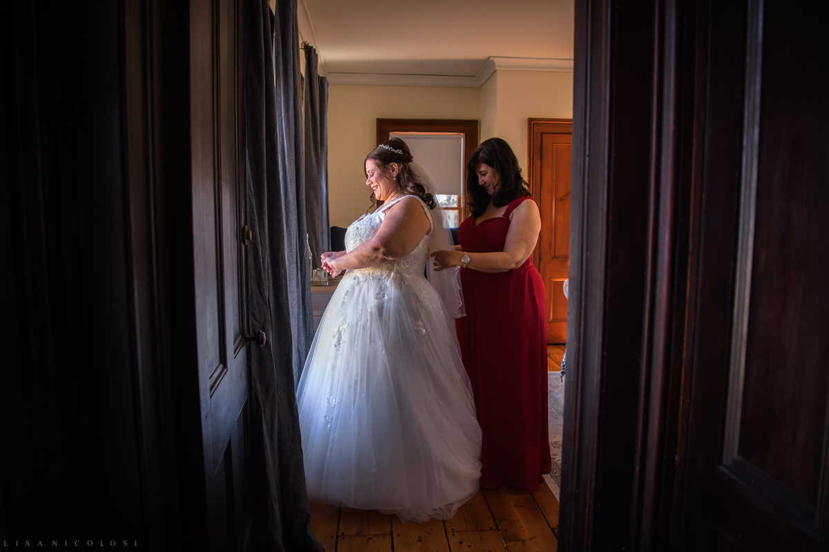 Bride and Maid of Honor getting ready at The Whitecap