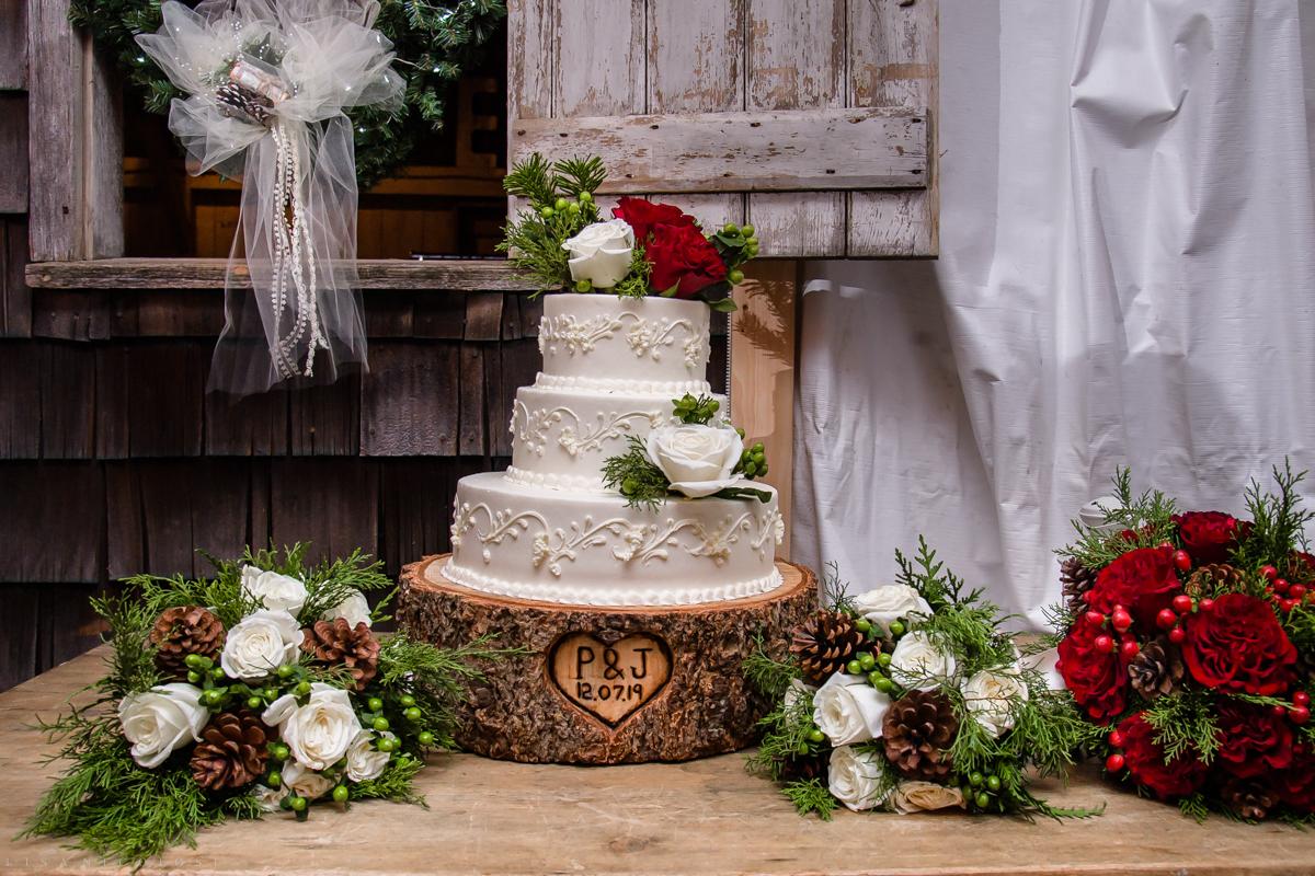 Jamesport Manor Inn Wedding Reception - Christmas themed wedding