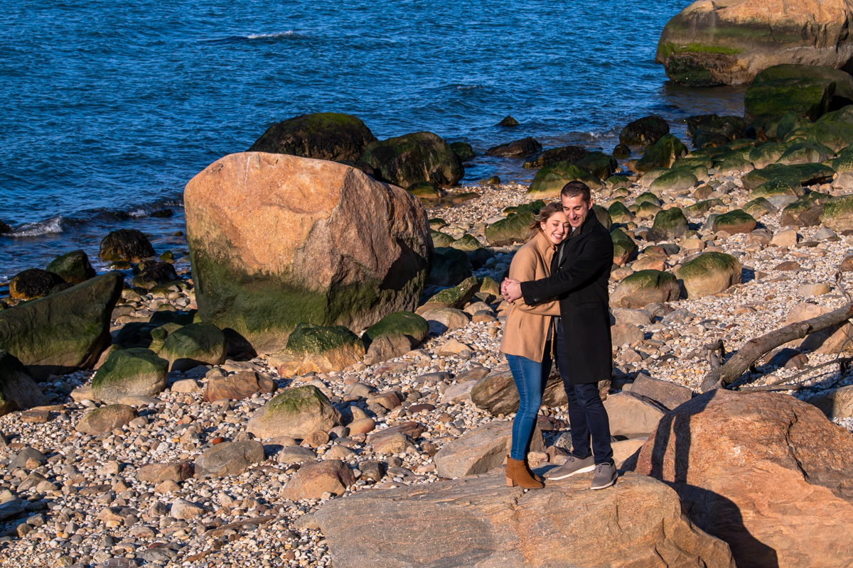 North Fork Engagement Session photos in Southold on beach