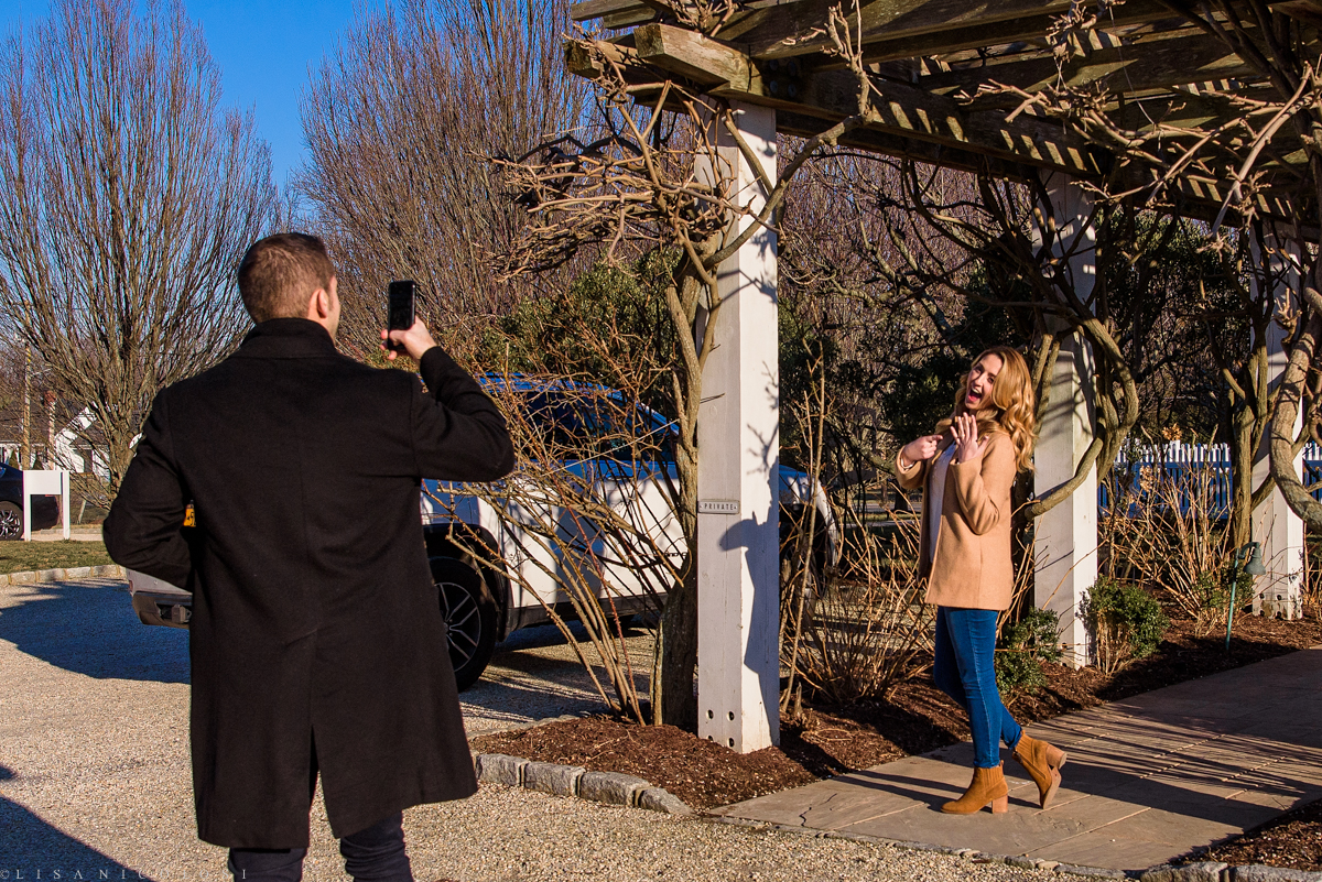 Groom to be photographing his fiance