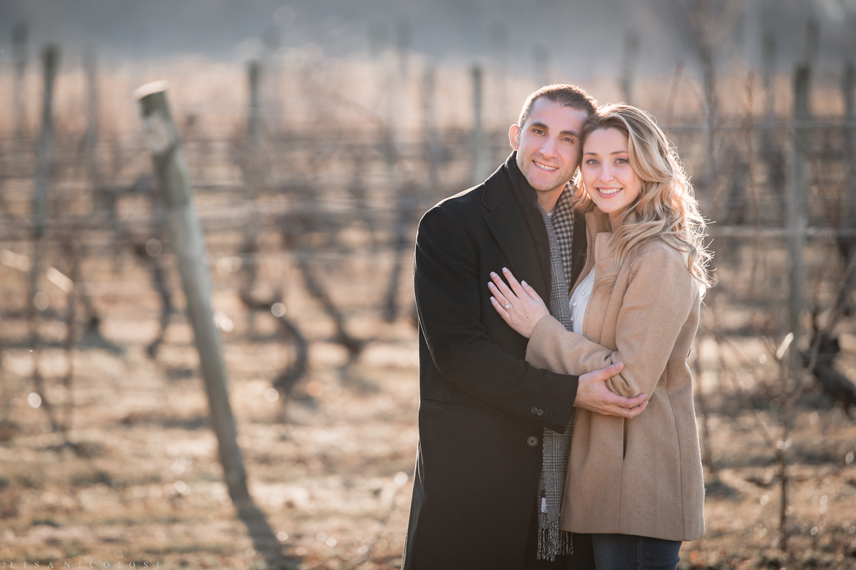 Bedell Cellars romantic Engagement photos - North Fork Wedding and Proposal Photographer
