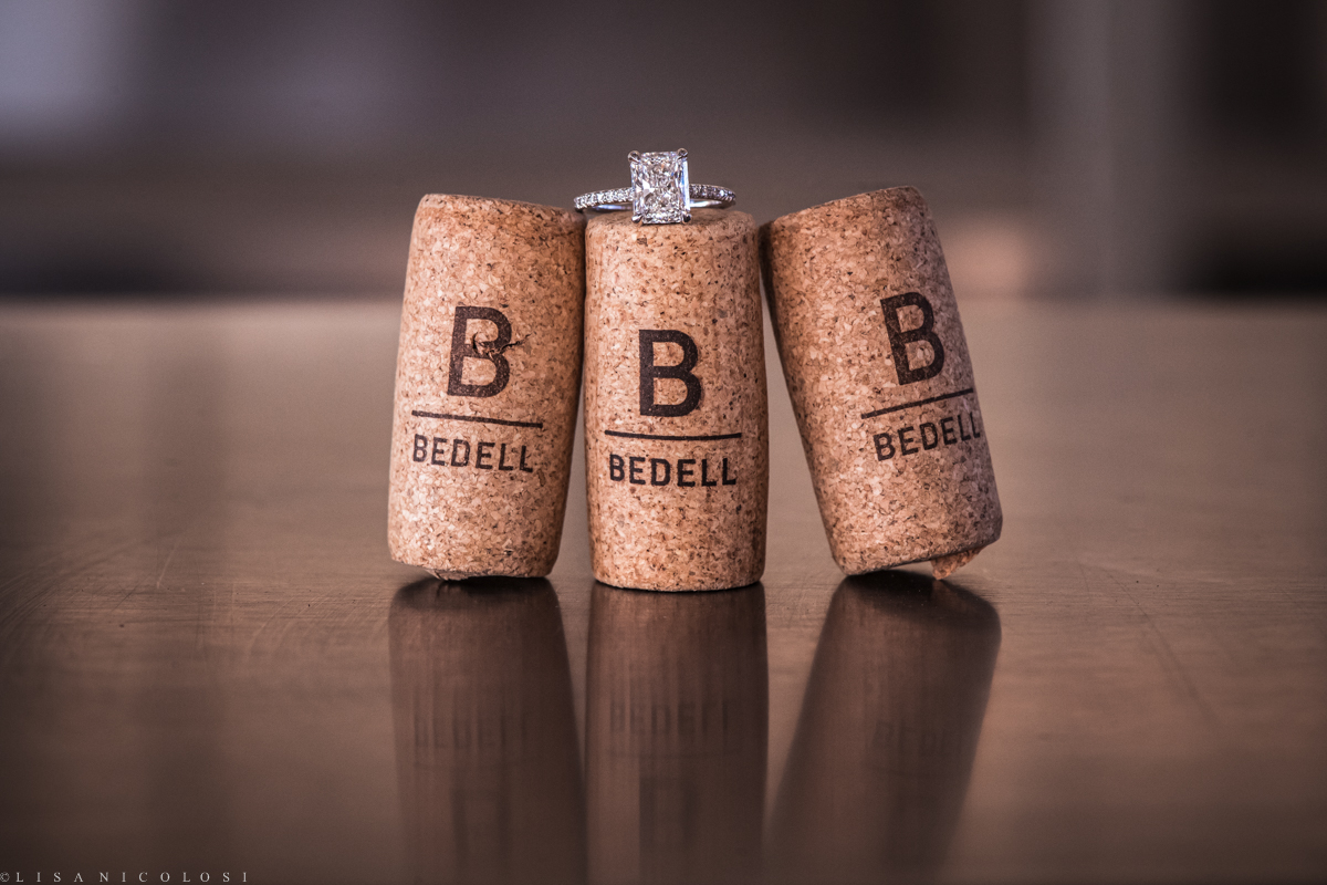 Engagement Ring photo at Bedell Cellars on the North Fork