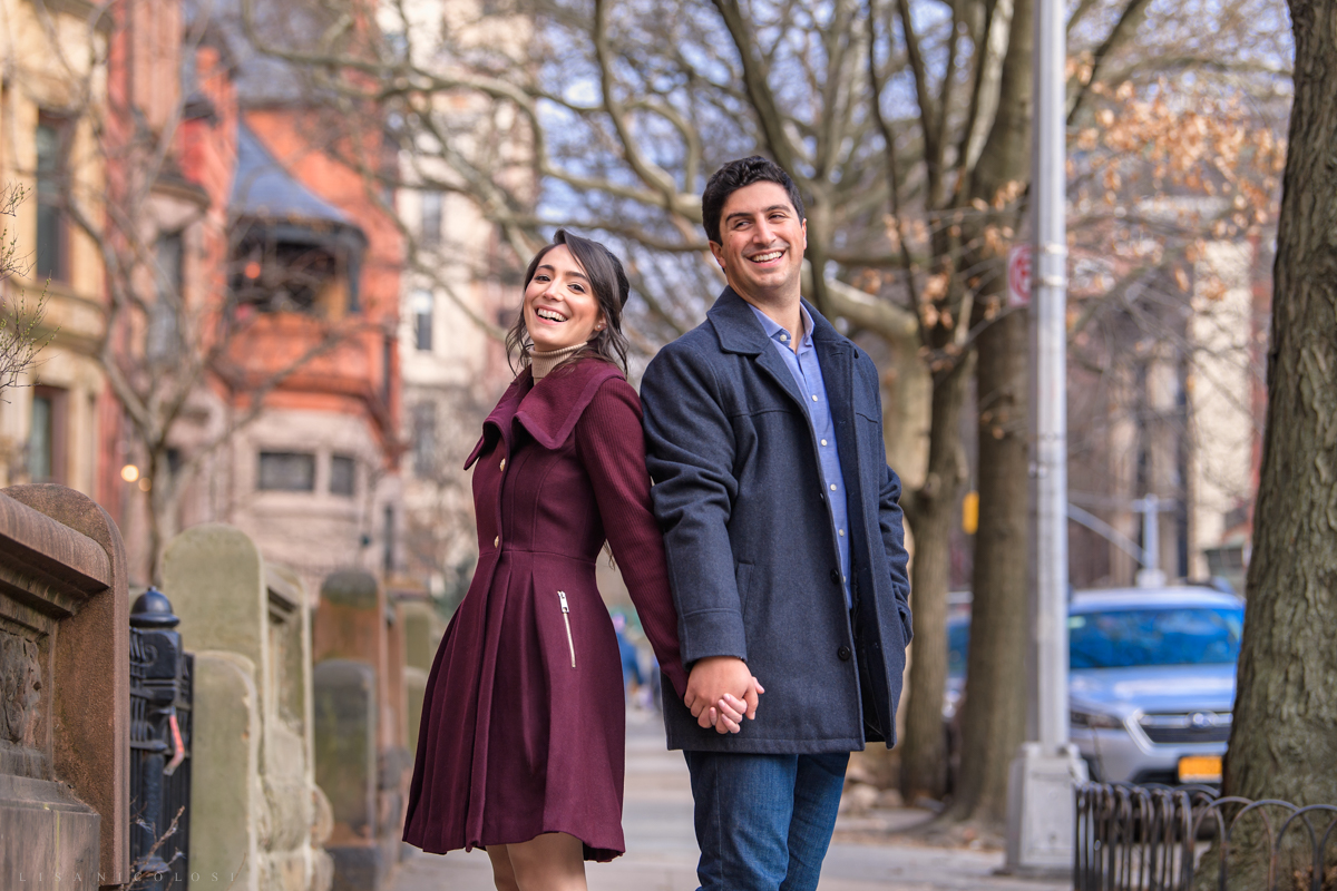 Fun Brooklyn Engagement Session in Park Slope
