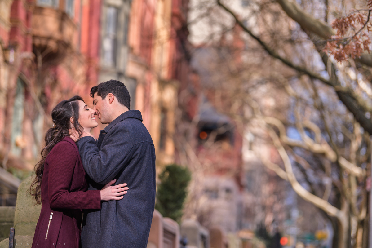 Bride and Groom to be in Park Slope - Brooklyn Wedding Photographer